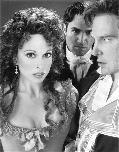 Carolee Carmello, Marc Kudisch and Ron Bohmer in The Scarlet Pimpernel