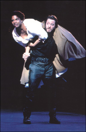 Audra McDonald and Fisher Stevens in Carousel, 1994
