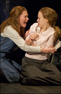 Marin Mazzie and Molly Ranson in <i>Carrie</i>.