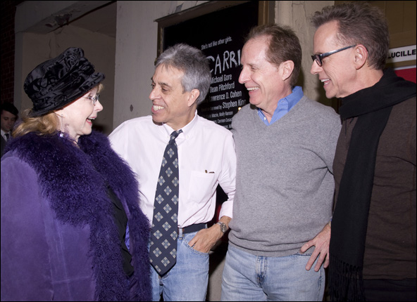 Piper Laurie, Lawrence D. Cohen, Michael Gore and Dean Pitchford
