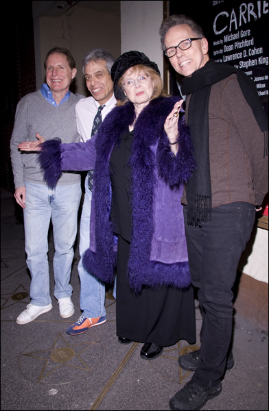 Michael Gore, Lawrence D. Cohen, Piper Laurie and Dean Pitchford