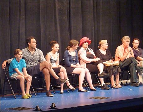 Yale Rep offers a post-show talkback:  Ryan Murphy, Matt Pearson, Alexandra Socha, production dramaturg Amy Boratko, Beth McVey, Joy Franz, Bill Buell and Richard Todd Adams