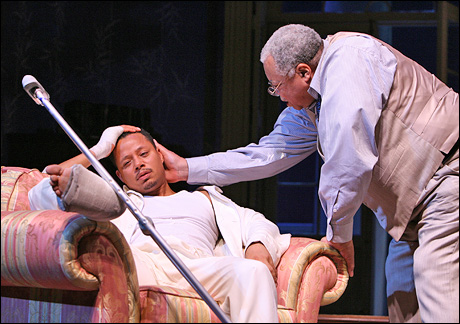 Terrence Howard and James Earl Jones in Cat on a Hot Tin Roof on Broadway, 2008