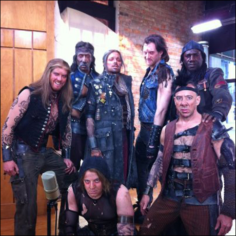 "Our boys on Good Morning Arkansas!  The scariest gang in Little Rock. For reals.  (except Smiley-Smilerstein, Eric….maybe the lady in picture #3 shared her ""coffee""???)"