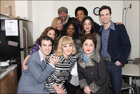 Jessie Mueller, Jennifer Westfeldt, Jon Hamm, Whoopi Goldberg, James Harkness, Stacy London, Jake Epstein, Jarrod Spector, Sara King and Liz Larsen