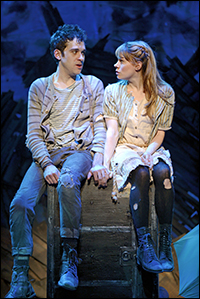 Adam Chanler-Berat and Celia Keenan-Bolger in <I>Peter and the Starcatcher.</I>