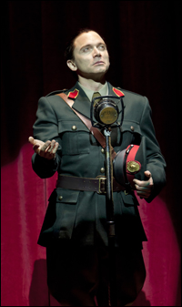 Michael Cerveris as Juan Peron in <i>Evita</i>.