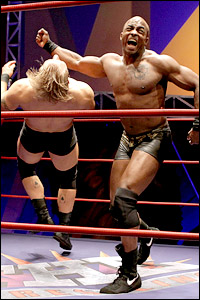 Christian Litke and Terence Archie in <i>The Elaborate Entrance of Chad Deity</i>