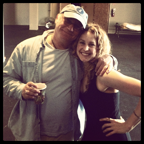 Our book writer Jeff Arch and me.  Hanging at rehearsal.