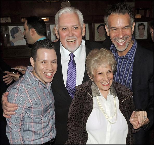 Robin De Jesus, Jim Brochu, Marilyn Michaels and Brian Stokes Mitchell