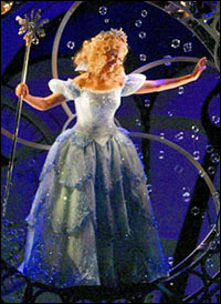 Kristin Chenoweth in <i>Wicked</i>.