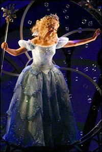 Kristin Chenoweth in <i>Wicked</i>.