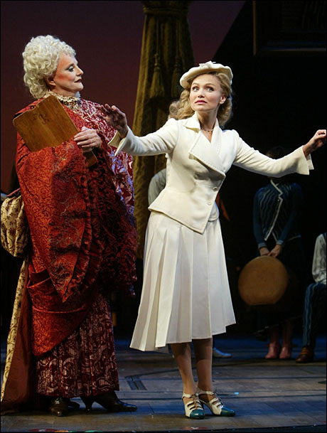 Carole Shelley and Kristin Chenoweth in Wicked