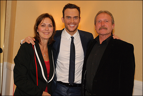 Cheyenne Jackson with his parents, Sherri and David Jackson