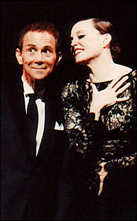 Joel Grey and Ann Reinking in <i>Chicago</i>.