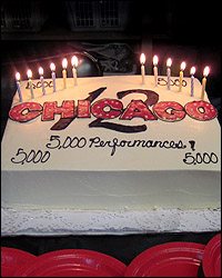 The cake for <I>Chicago</I>'s twelfth anniversary.