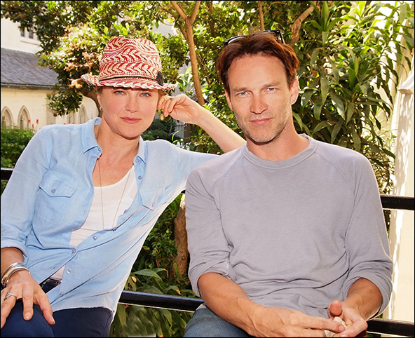 Lucy Lawless and Stephen Moyer