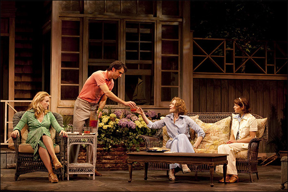 Katie Finneran, James Waterston, Judith Light and Mary Bacon in the Westport Country Playhouse production A.R. Gurney's Children.