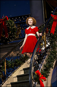 Lilla Crawford in the current Broadway revival of <i>Annie</i>.