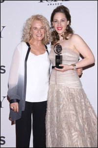 Carole King and Jessie Mueller