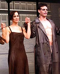 Susan Egan and Adam Pascal give the final curtain call for <i>Cabaret</i>