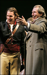 Ethan Hawke and Richard Easton in <i>Voyage</i>, Part One of Tom Stoppard's <i>The Coast of Utopia</i> trilogy.