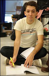 Coby Getzug in rehearsal