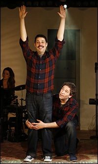Steve Rosen and David Rossmer in <i>The Other Josh Cohen</i>.
