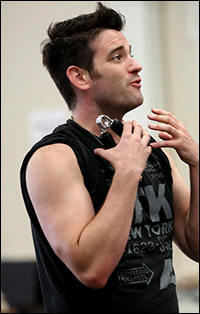 Colin Donnell in rehearsal