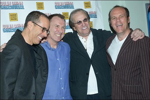 Jerry Seinfeld, Colin Quinn, Danny Aiello and Tom Pap