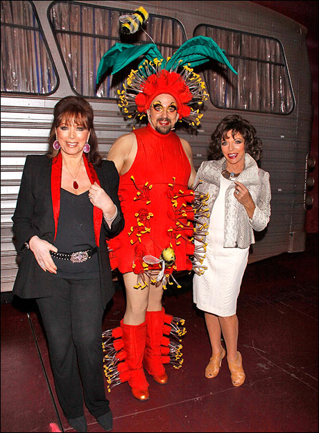 Jackie Collins, Tad Wilson and Joan Collins