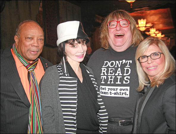 Quincy Jones, Toni Basil, Bruce Vilanch and Nancy Sinatra