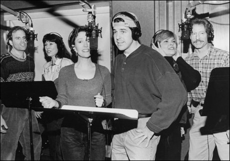 John Hillner, Diana Canova, Patricia Ben Peterson, Jonathan Dokuchitz, Debra Monk and Timothy Landfield record the revival cast album.