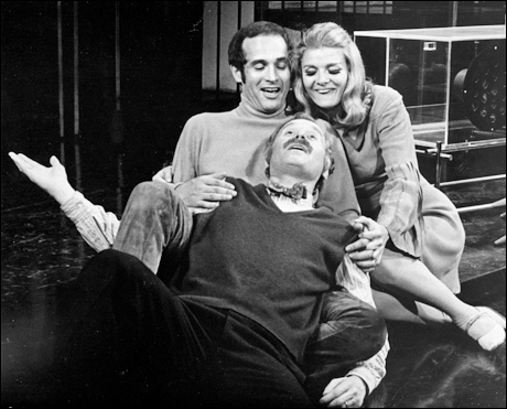 Larry Kert, George Coe and Teri Ralston in the original Broadway production, 1970.