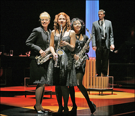 Elizabeth Stanley, Kelly Jeanne Grant, Angel Desai and Raul Esparza in the 2006 Broadway revival.