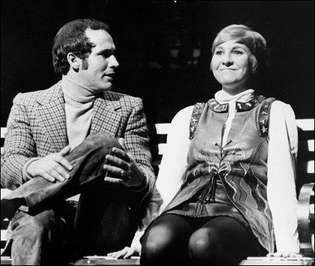 Larry Kert and Pamela Myers in the original Broadway production, 1970.
