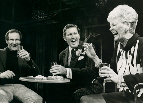 Larry Kert, Charles Braswell and Elaine Stritch in the original Broadway production, 1970.