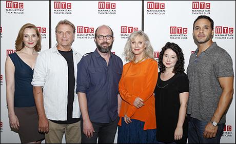 Kate Jennings Grant, David Rasche, Eric Lange, Blythe Danner, Sarah Steele and Daniel Sunjata