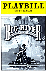 Playbill cover for <I>Big River</I> in 1985.