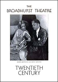 Playbill cover for <I>Twentieth Century</i> in 1932.