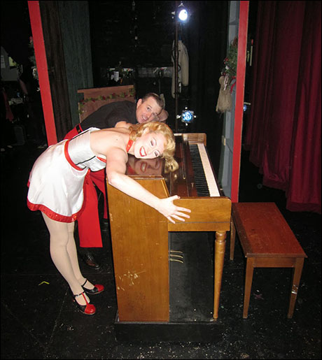 Drew Humphrey and I love pianos. L-O-V-E them. In fact..we may do an entire tap number dedicated to them. We'll see.