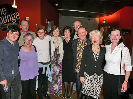 Laurence Kinlan, Liam Carney (back), director Garry Hynes (front), Tadhg Murphy, Clare Dunne, Ingrid Craigie, Paul Vincent O'Connor, Dermot Crowley, Dearbhla Molloy and Nancy E. Carroll