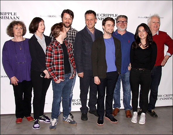 Gillian Hanna, Ingrid Craigie, Conor MacNeill, Padraic Delaney, Michael Grandage, Daniel Radcliffe, Pat Shortt, Sarah Greene and Gary Lilburn