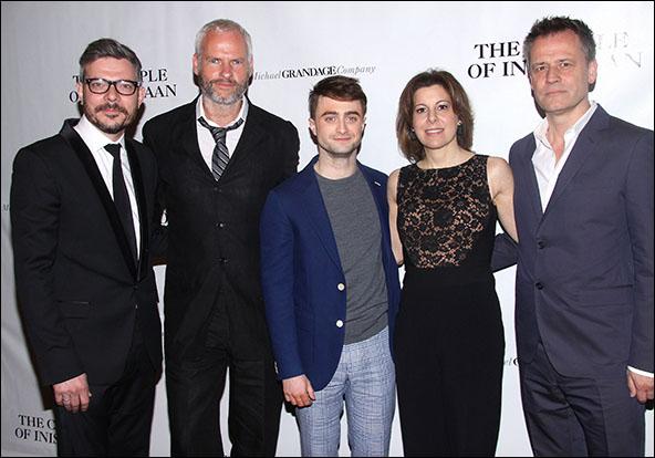 James Bierman, Martin McDonagh, Daniel Radcliffe, Arielle Tepper Madover and Michael Grandage