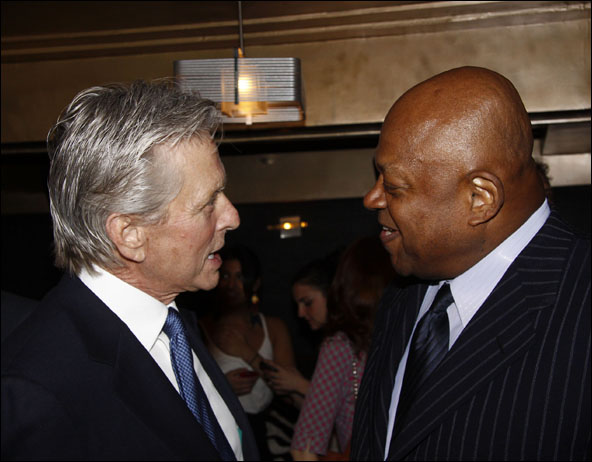 Michael Douglas and Charles S. Dutton