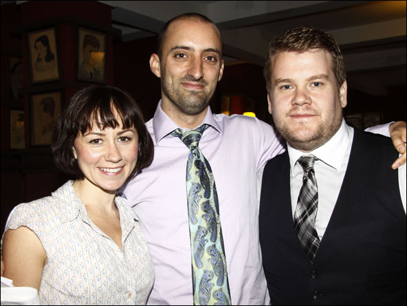 Claire Lams, Tom Edden and James Corden