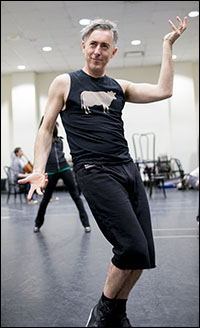 Alan Cumming in rehearsal