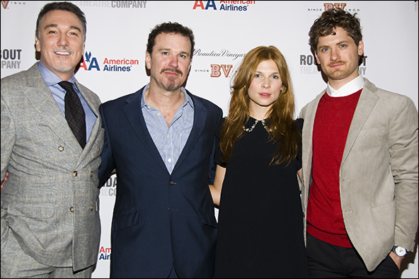 Patrick Page, Douglas Hodge, Clemence Poesy and Kyle Soller