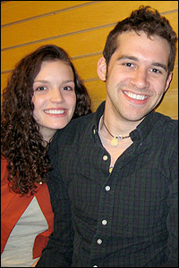 Jennifer Damiano and Adam Chanler-Berat