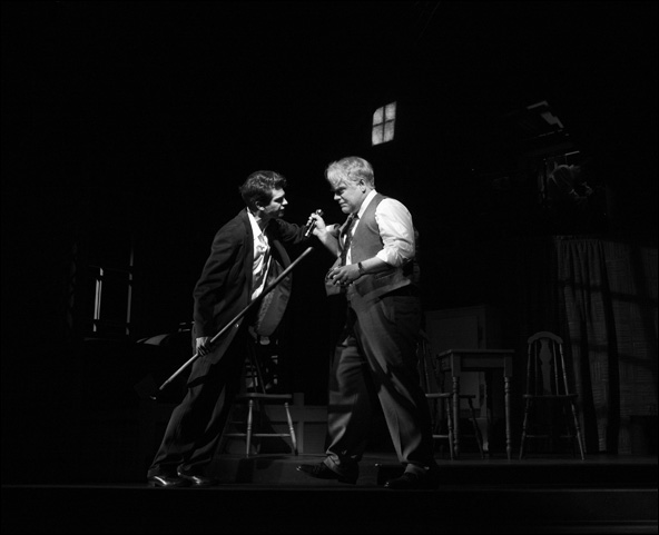 Andrew Garfield and Philip Seymour Hoffman in the 2012 Broadway revival Death of a Salesman.